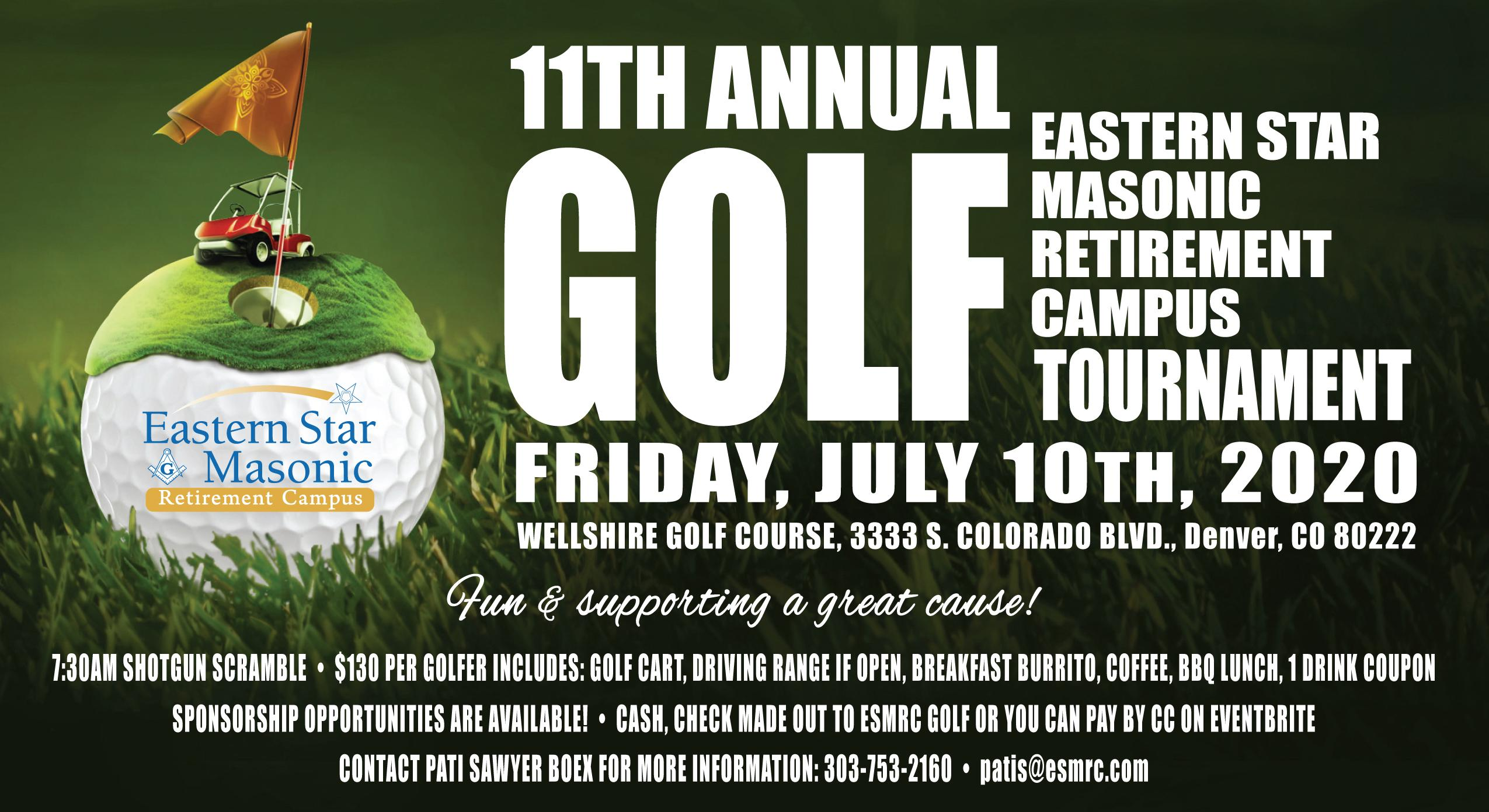 11th Annual Eastern Star Masonic Retirement Campus golf Tournament