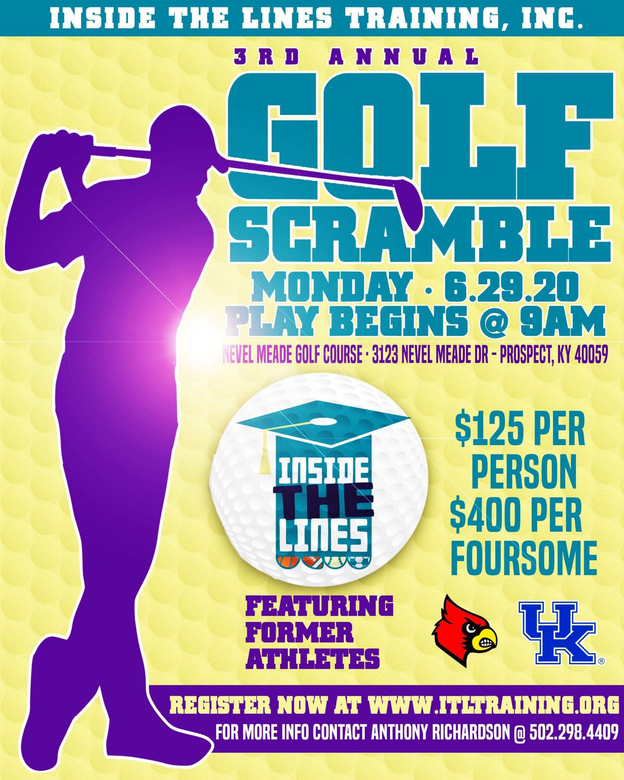 3rd Annual Inside the Lines Training, Inc. Golf Scramble