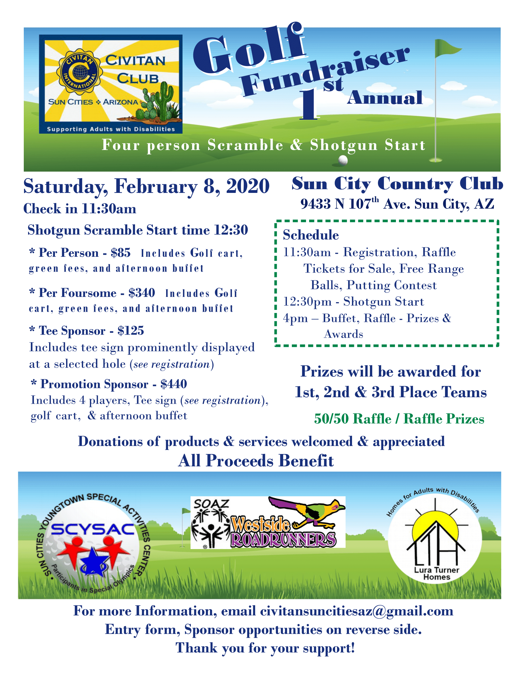 Civitan Club of Sun Cities 1st Annual Golf Tournament