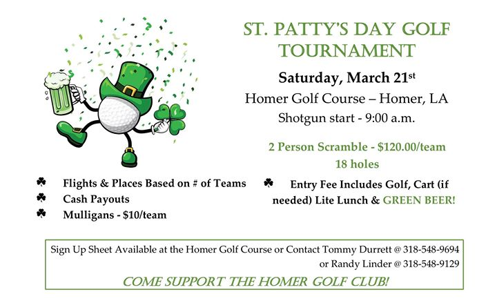 Homer Golf Course St. Patty's Day Golf Tournament