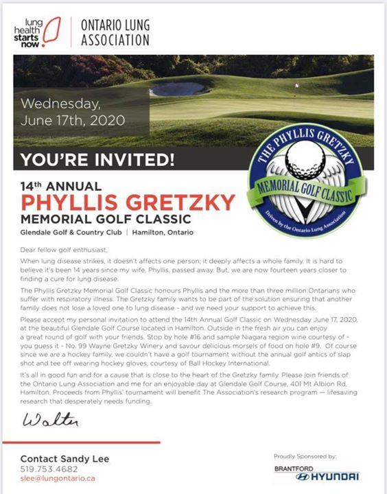 14th Annual Phyllis Gretzky Golf Tournament