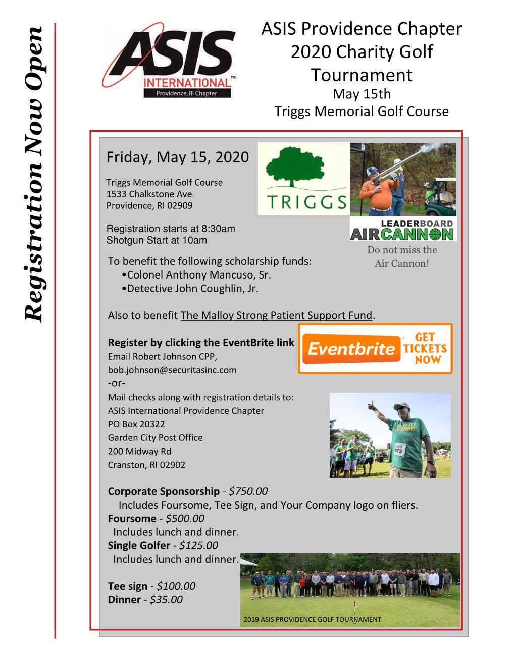 ASIS Annual Charity Golf Outing