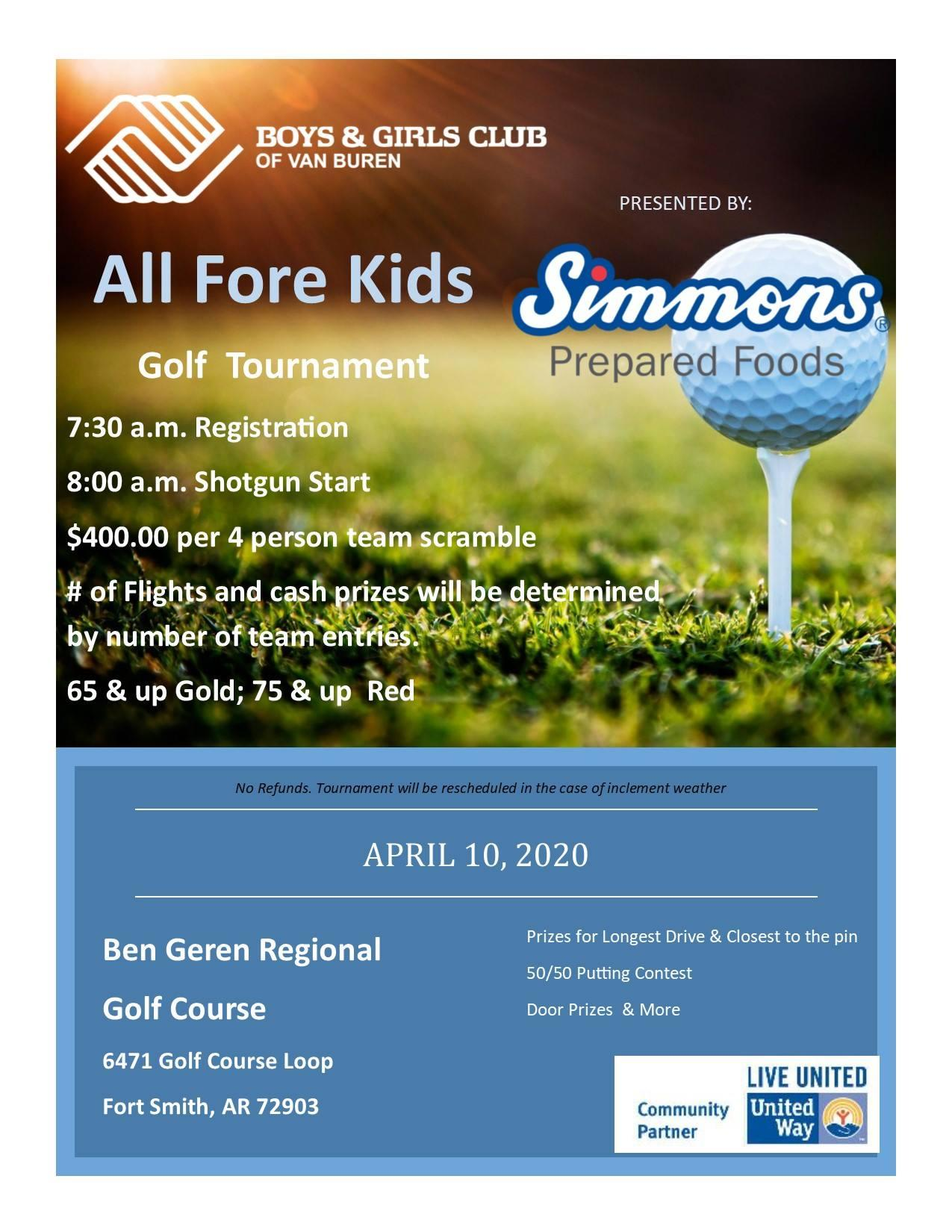 All Fore Kids Golf Tournament