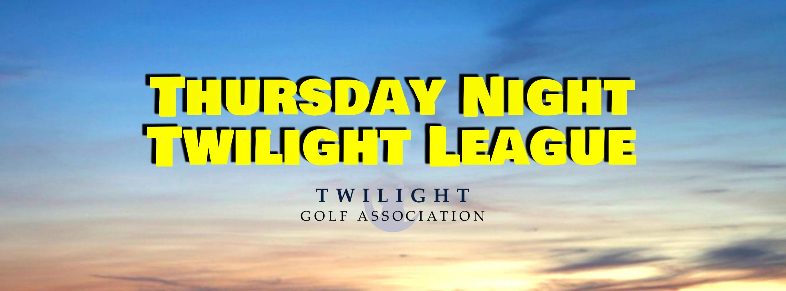 Thursday Night Twilight League at Stumpy Lake Golf Course