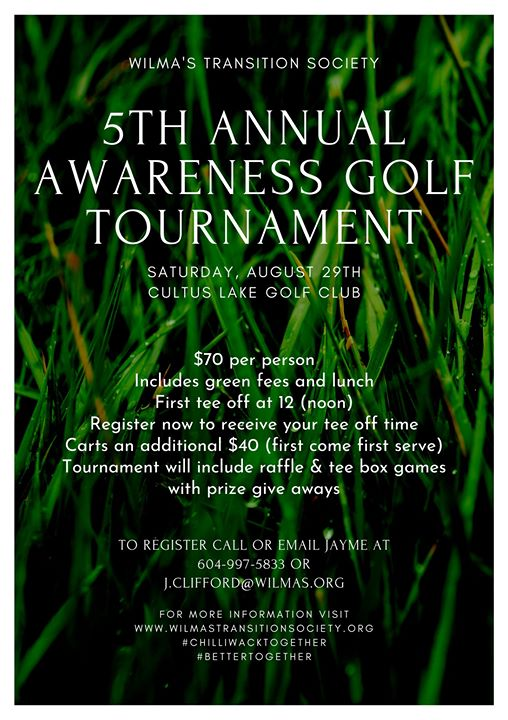 Wilma's Transition Society Annual Golf Tournament