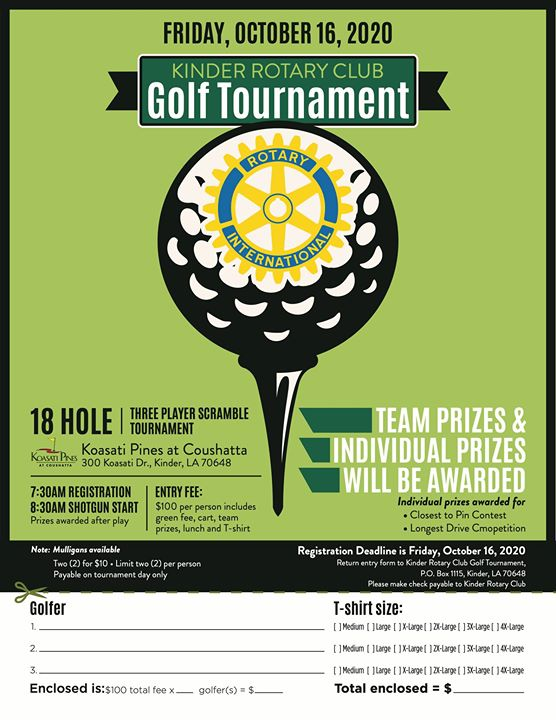 KINDER ROTARY CLUB GOLF TOURNAMENT
