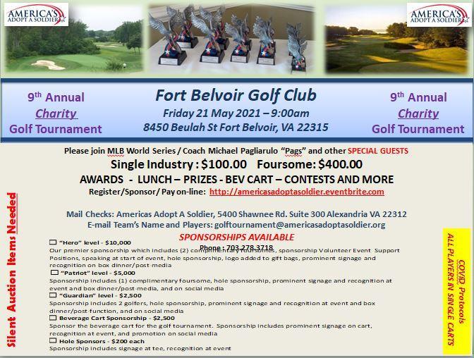 9th Annual America's Adopt A Soldier Golf Tournament