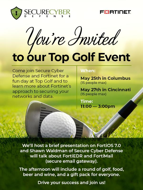 Secure Cyber Defense Top Golf Outing