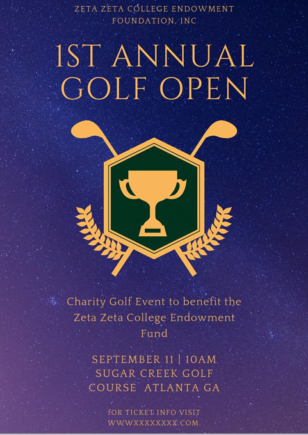1st Annual Zeta Zeta College Endowment Foundation Golf Open