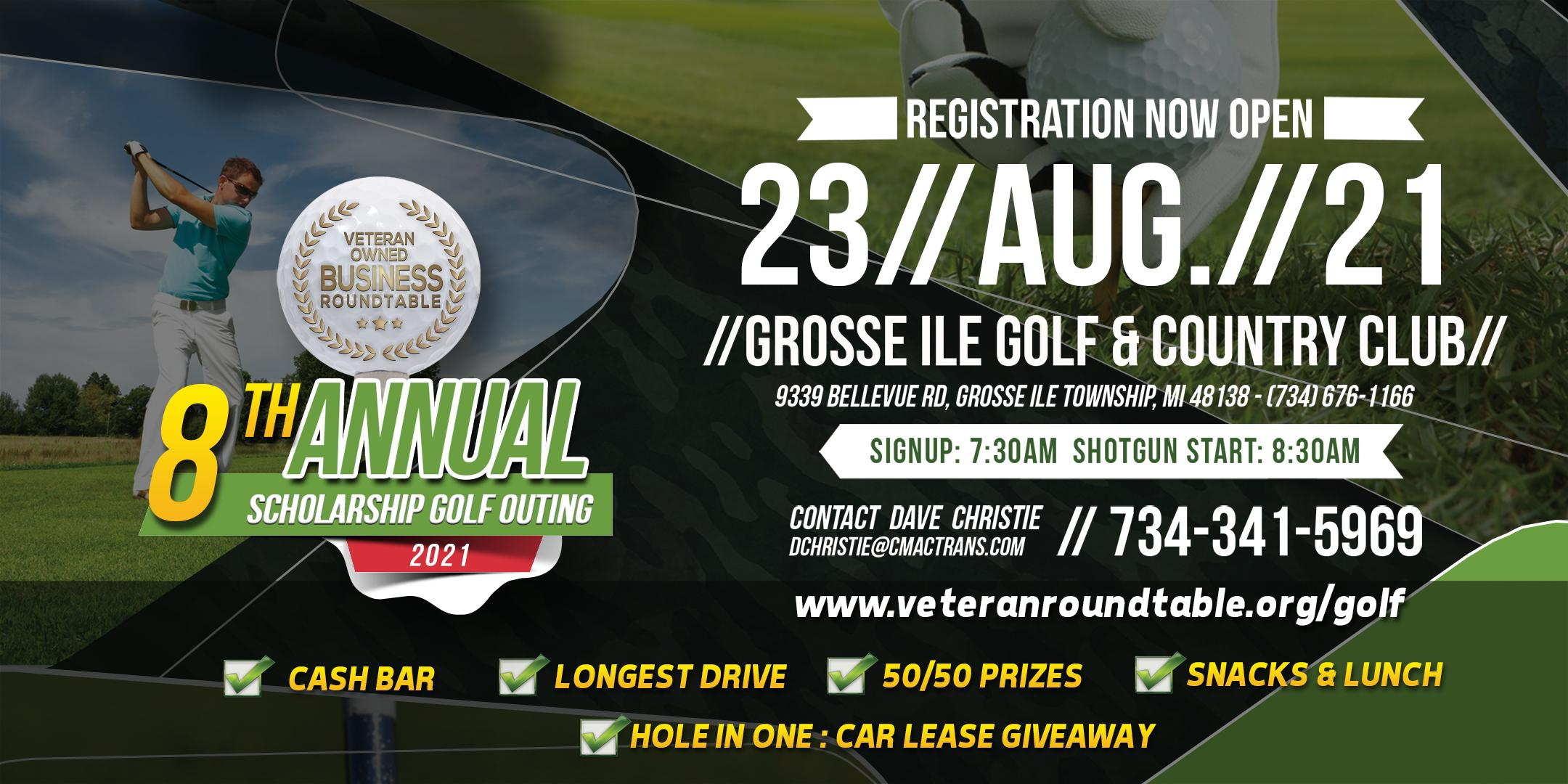 8th Annual Veteran Owned Business Roundtable Scholarship Golf Outing 2021