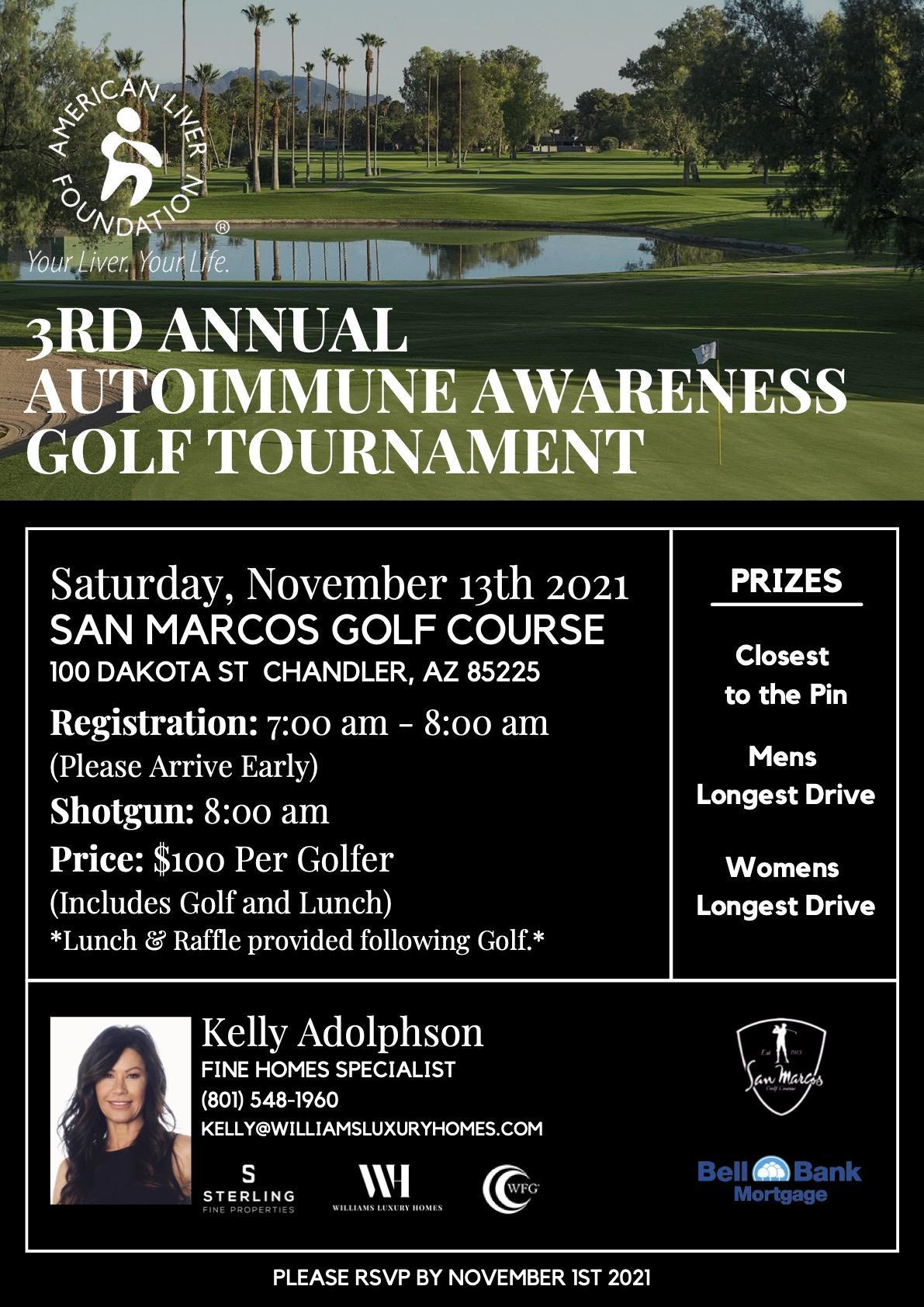 3rd Annual Autoimmune Awareness Golf Tournament