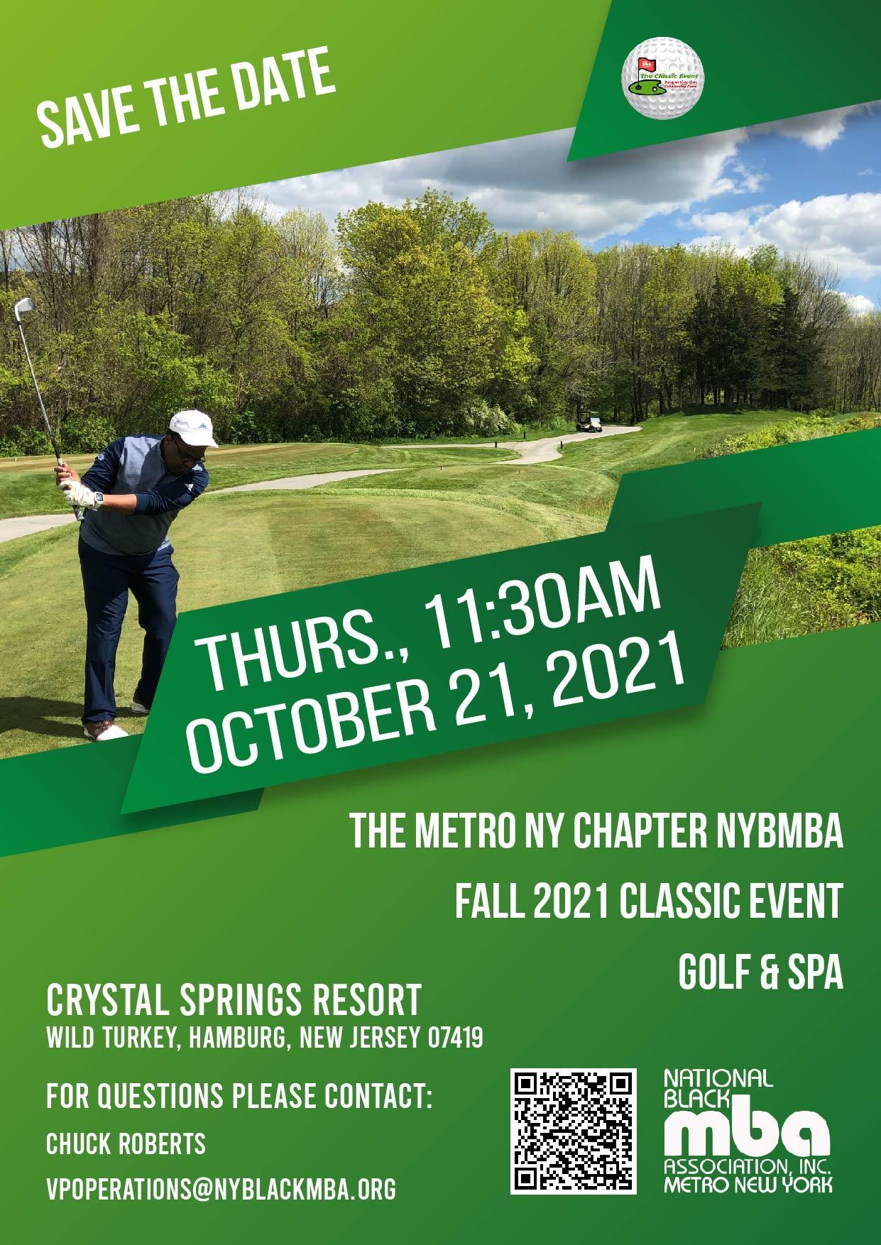 The NY Black MBA 2nd Golf Classic 2021 Fundraiser