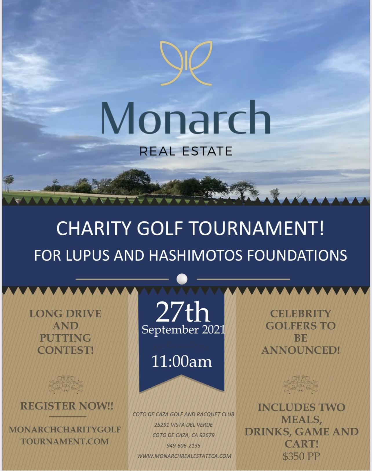 Monarch Real Estate Charity Golf Tournament!
