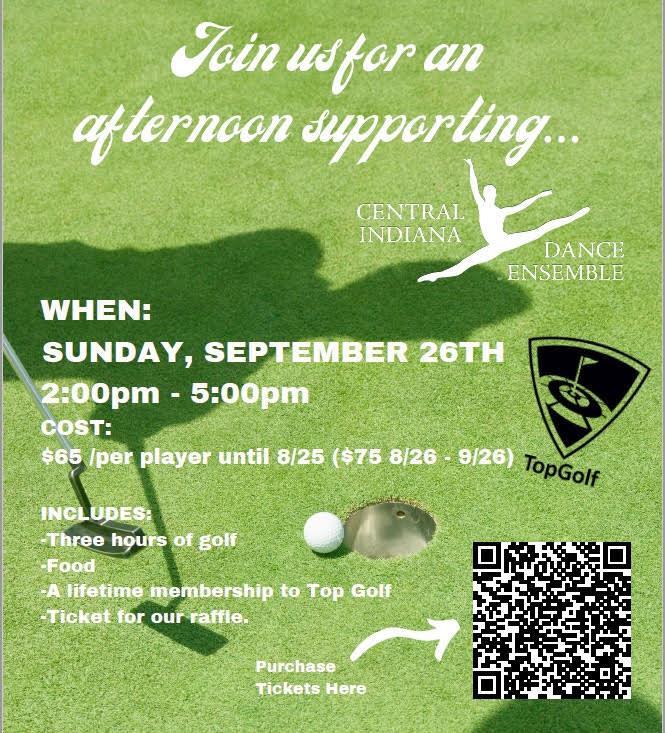 2021 Top Golf Central Indiana Dance Ensemble Fundraiser