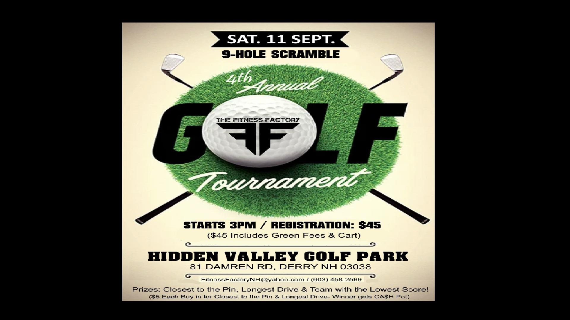 Fitness Factory: 4th Annual 9-Hole Scramble GOLF Tournament!