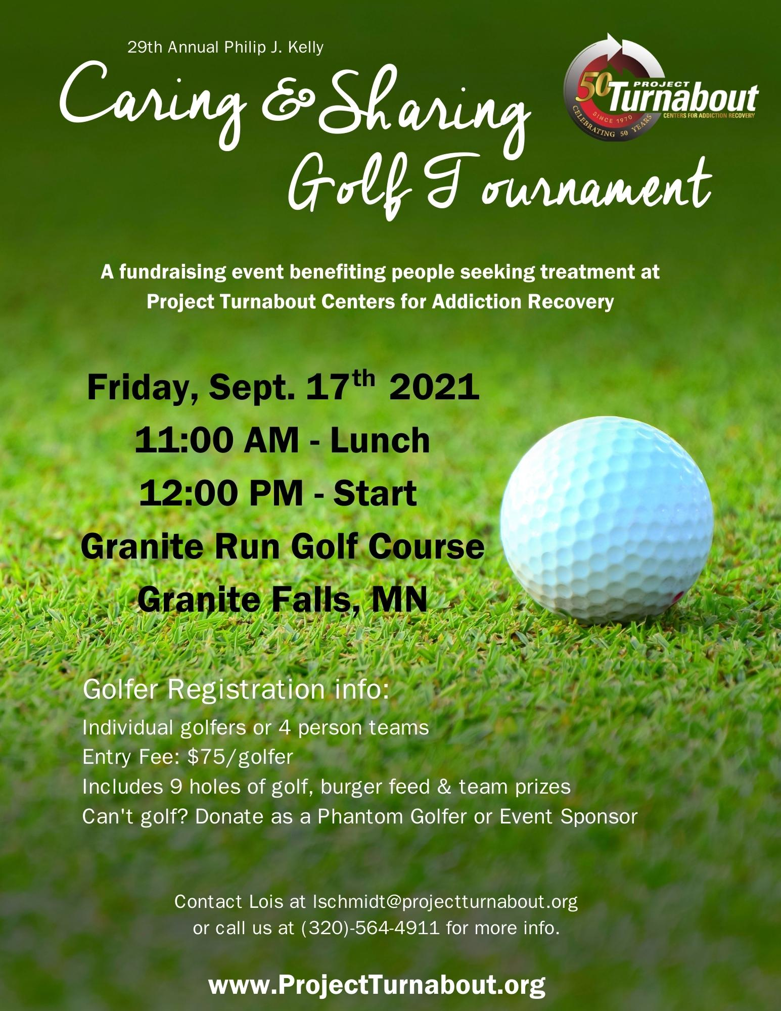 Project Turnabout 29th Annual Caring & Sharing Golf Tournament
