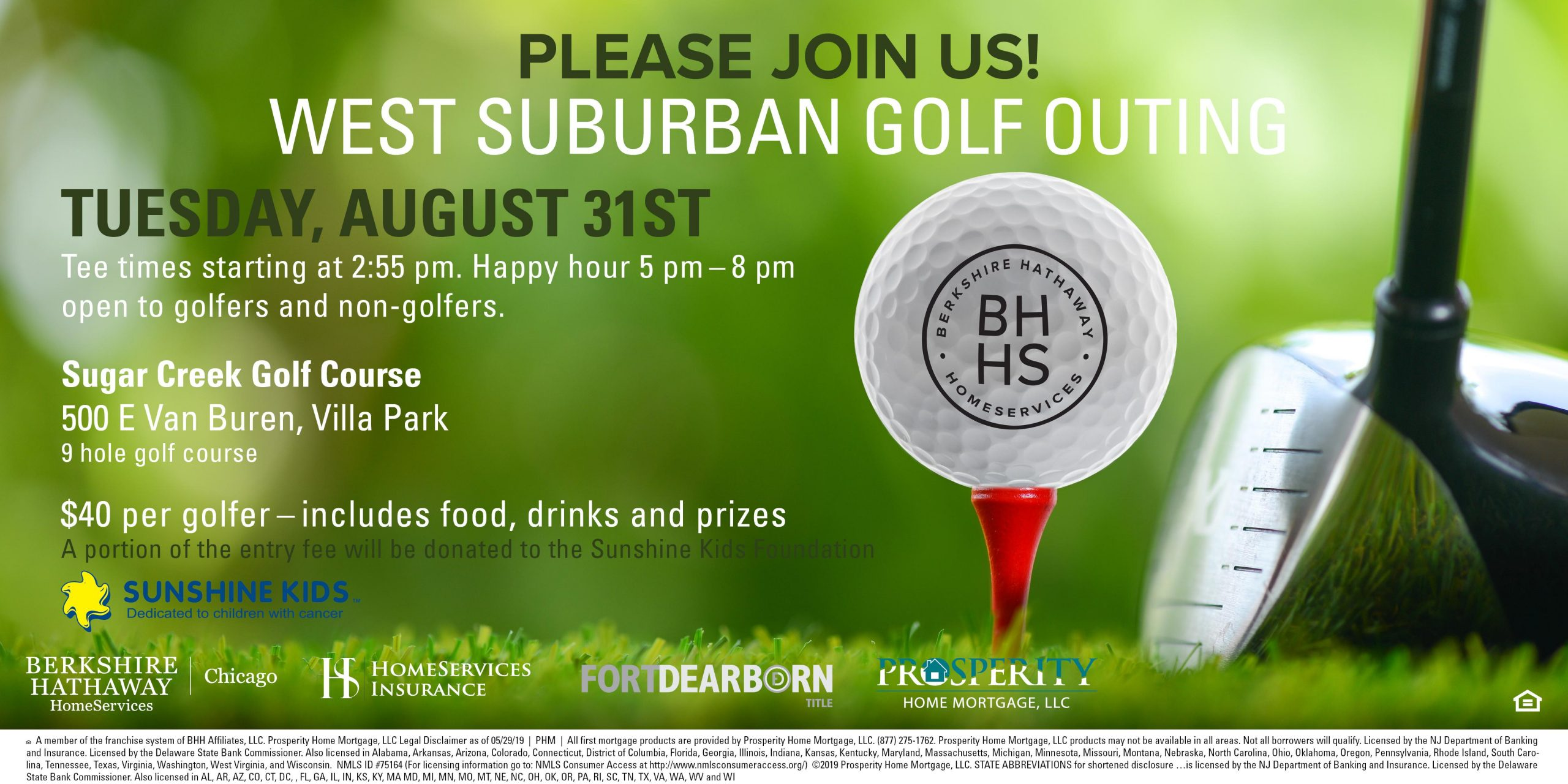 2021 West Suburban Golf Outing