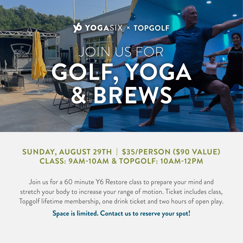 Golf, Yoga & Brews