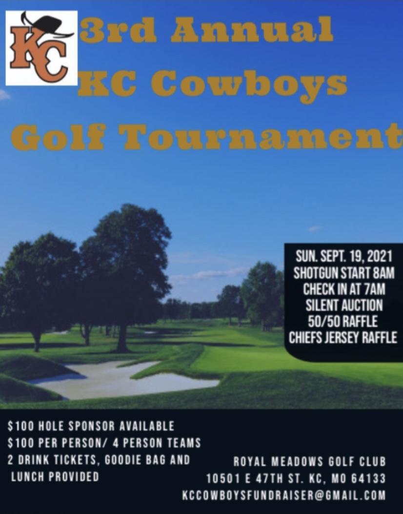 KC Cowboys baseball 3rd Annual Golf Tournament
