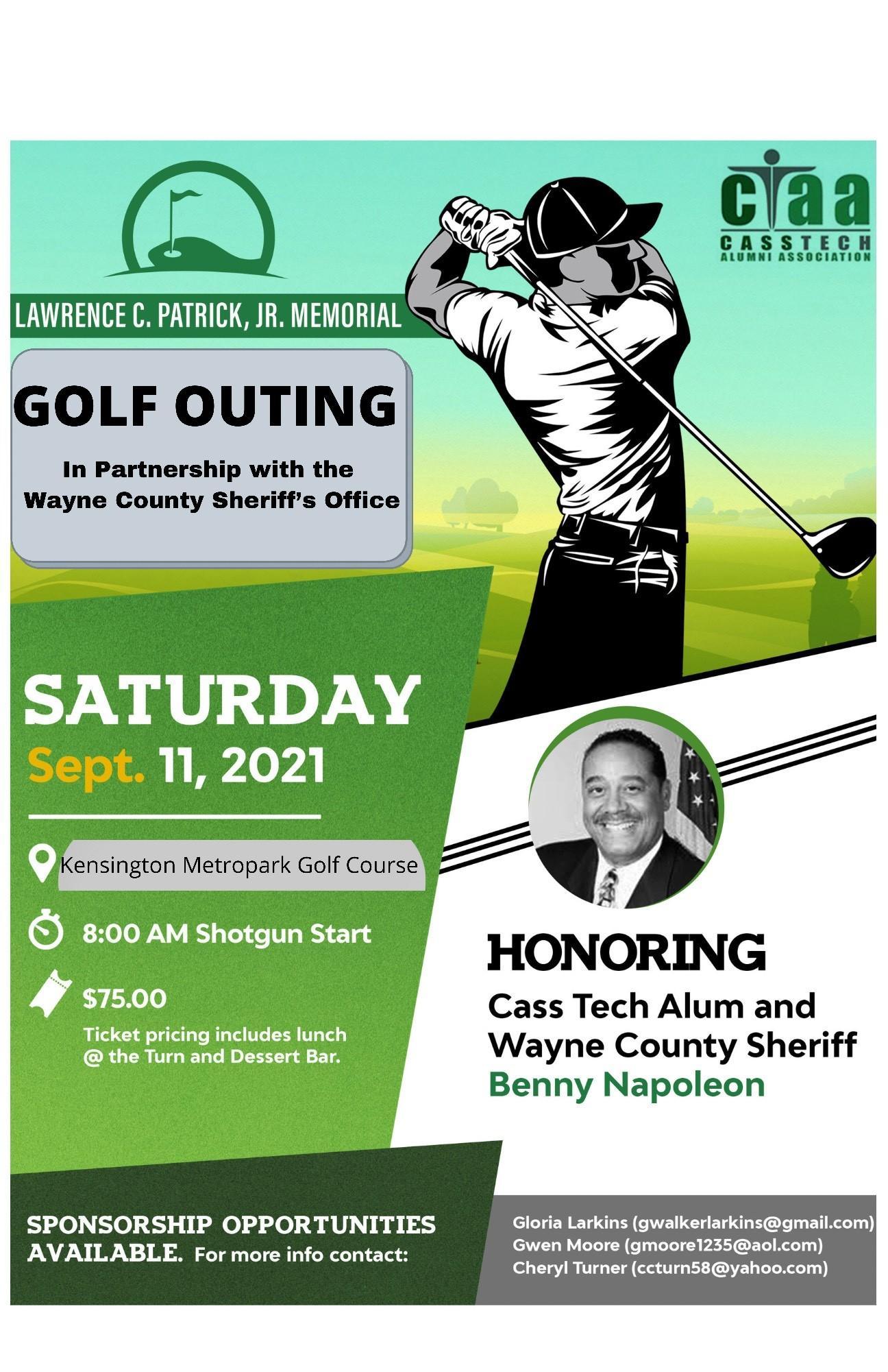 2021 Cass Tech Alumni Association Larry C. Patrick Memorial Golf Outing