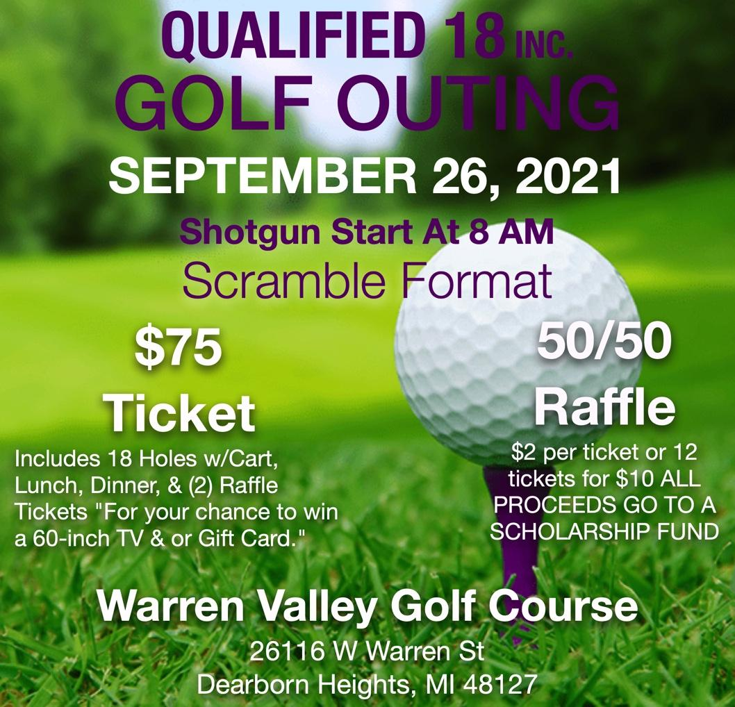 Qualified 18 Inc Golf Outing