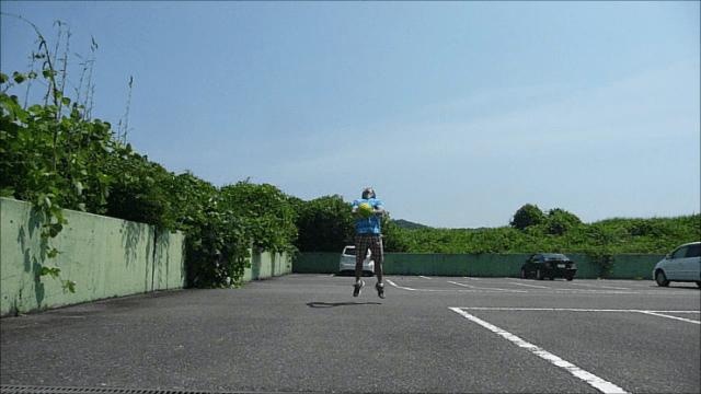 メディシンボール投げ前③