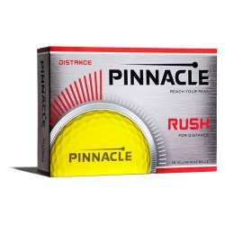 Pinnacle Rush Yellow Golf Ball Box View