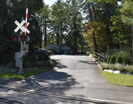 The entrance to Pine Valley Golf Club