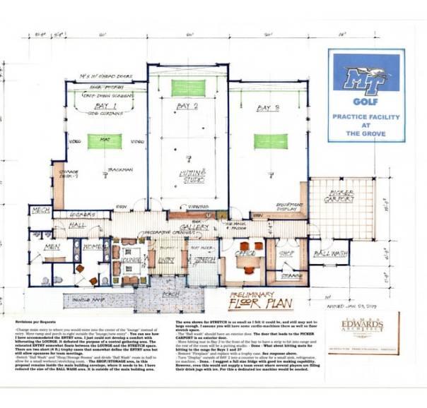 MTSU golf floor plan