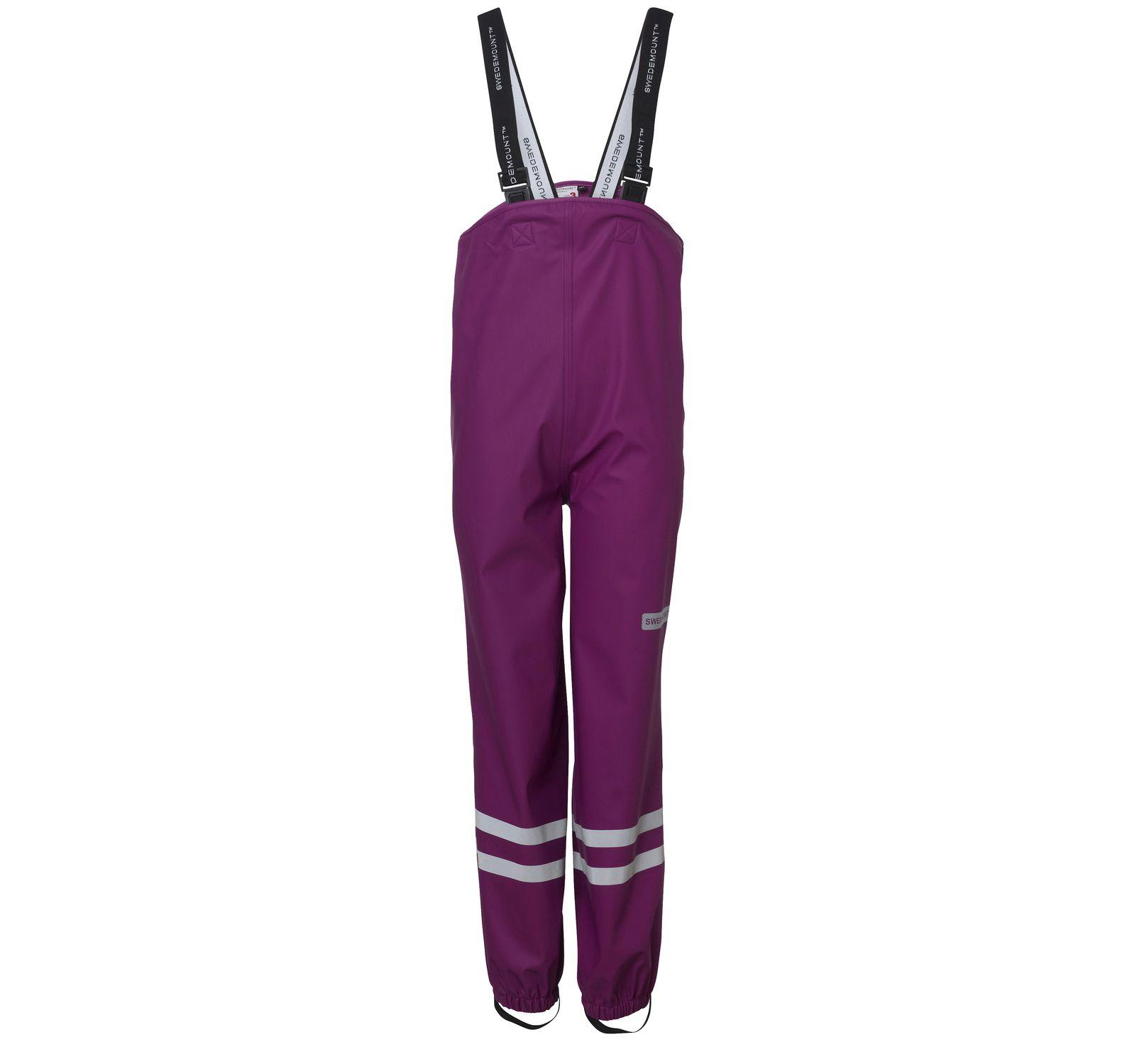 Drip Bib Pants, Purple, 120, Regnkläder