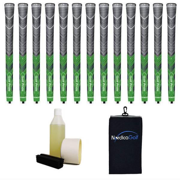 Golf Pride New Decade MultiCompound MCC Plus4 Green Greppkit - 13 grepp, klämma, vätska, tejp, handduk