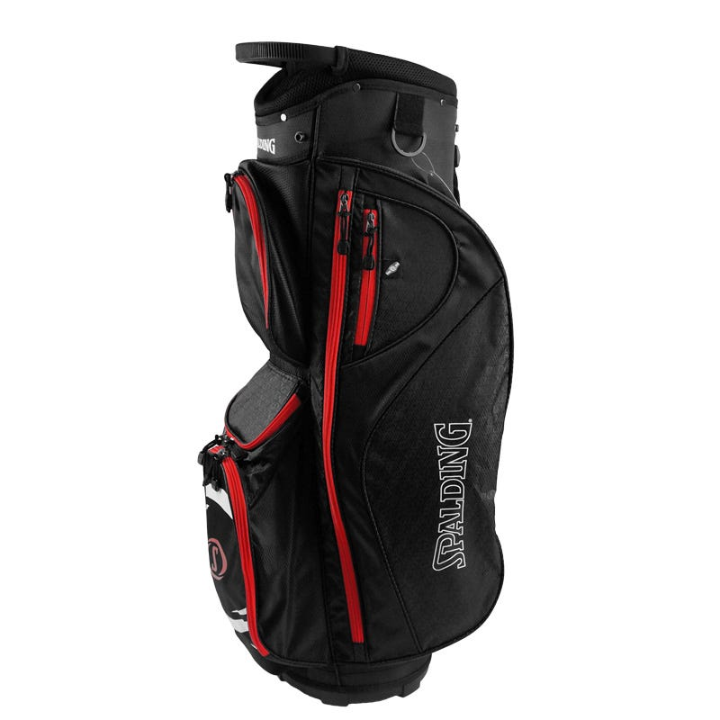 Spalding Golfbagar - Spalding Elite Golf Vagnbag-Svart/Röd