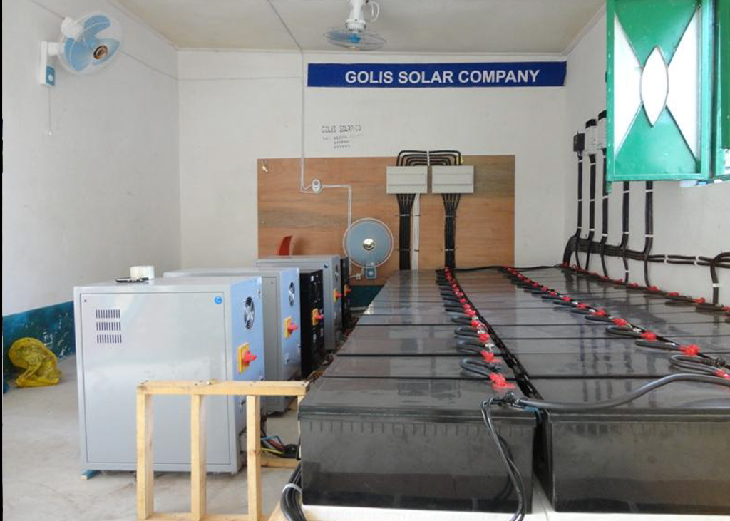 Berbera Hospital Battery bank and power inverters power room