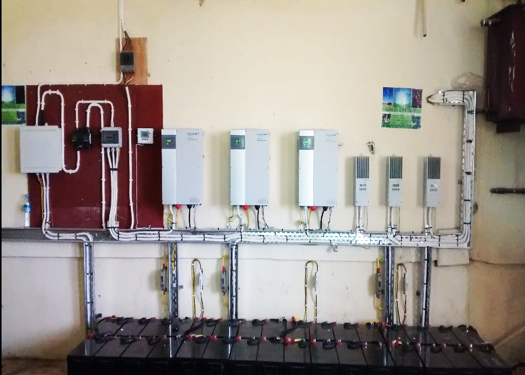 Sheikh Hospital Solar power supply