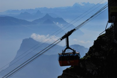 Tram to the Mt Pilatus summit