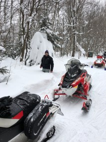 Snowmobiling in Woodford Vermont