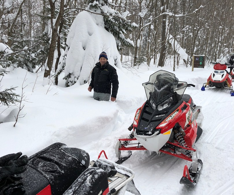 Snowmobiling in Woodford