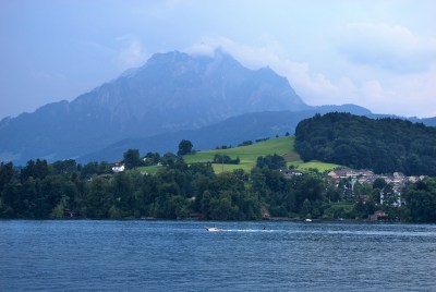 View of Pilatus from the Lake-a
