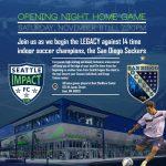 MASL arena soccer San Diego at Seattle Nov 8th 7:05pm PT