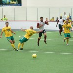 Mustangs at Waza on Dec 20th in arena soccer action