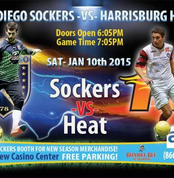 Heat at Sockers on Jan 10th in arena soccer action