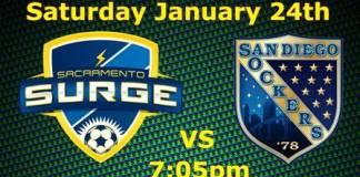 MASL West Coast: San Diego at Sacramento on Jan 24th