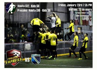Arena soccer: San Diego at Turlock on Jan 23rd