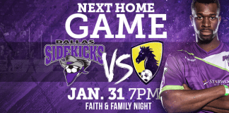Jan 30th in the MASL: Rancho Seco Saltillo at Dallas Sidekicks watch live video