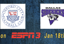ESPN3 Game of the Week: Oxford FC at Dallas Sunday Jan 18th