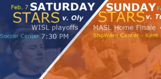 Turlock Express at Tacoma Stars Feb 8th arena soccer action webcast video