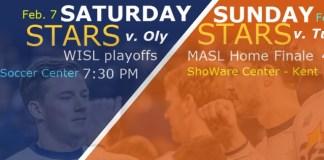 Turlock Express at Tacoma Stars Feb 8th arena soccer action webcast video