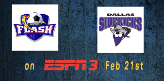 Monterrey Flash at Dallas Sidekicks Feb 21st