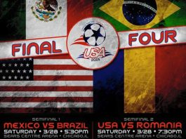 World Cup 2015: USA vs Romania Mar 28th (semifinals) 7:30pm CST