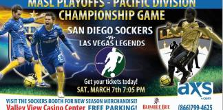 Pacific Coast Playoffs: Las Vegas at San Diego Mar 7th 7pm PT